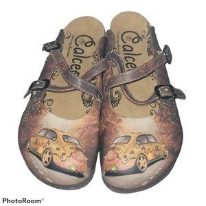 Calceo Car Slip On Mule Sandals